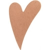 Metal Blank 24ga Copper Heart 25x16mm No Hole